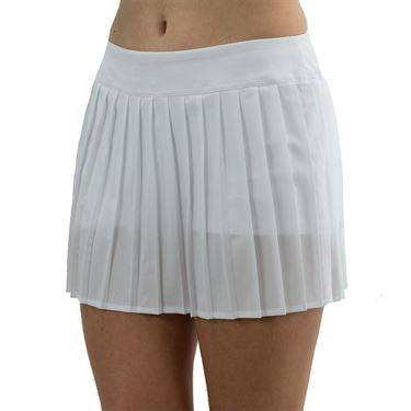 Lacoste Lightweight Technical Pleated Skirt Womens White JF9541 Z92