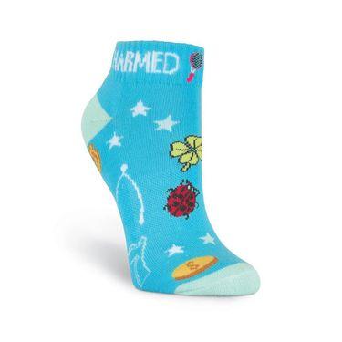 K-Bell Sports Charmed Low Cut Sock - Blue