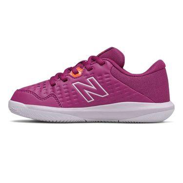 New Balance 696v4 Junior Tennis Shoe - Mulberry