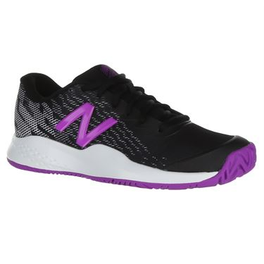 New Balance KCH99LM3 Junior Tennis Shoe - Black/Voltage Violet