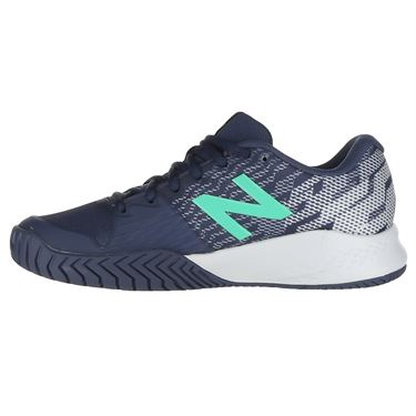 New Balance KC996NE3 Junior Tennis Shoe - Vintage Indigo/Neon Emerald