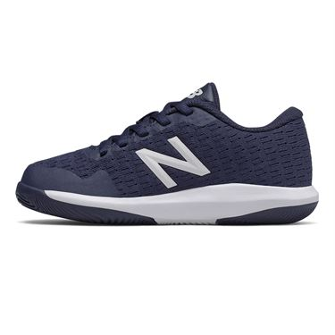 New Balance 996v4 Junior Tennis Shoe - Navy/White