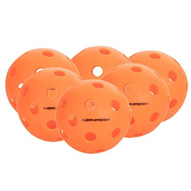 Onix Fuse Outdoor 6 Pack Pickleballs - Orange