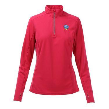 W&S Open 1/4 zip Pullover - Pink Raspberry