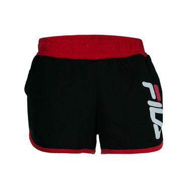 Fila Retro Track Short - Black/Chinese Red