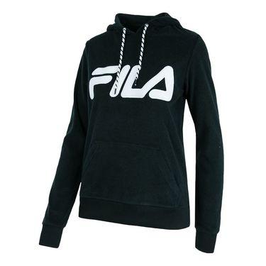 Fila Logo Hoody - Black/White