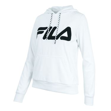 Fila Logo Hoody - White/Black