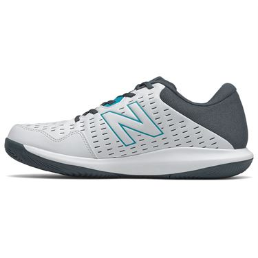 New Balance 696v4 (D) Mens Tennis Shoe - White/Black/Red
