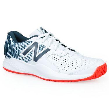 New Balance MCH696 (2E) Mens Tennis Shoe - White/Petrol
