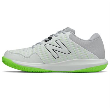 New Balance 696v4 (2E) Mens Tennis Shoe - White/Grey/Lime