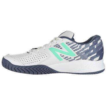 New Balance MCH696J3 (4E) Mens Tennis Shoe - White/Emerald