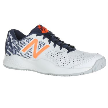 New Balance MCH696M3 (D) Mens Tennis Shoe - White/Dark Mango
