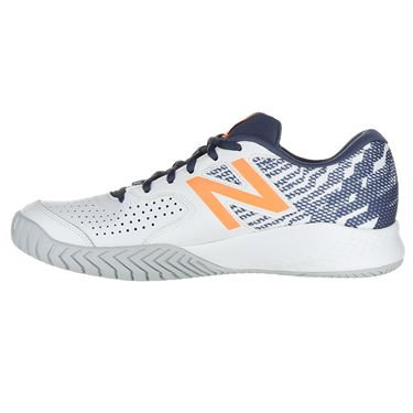 New Balance MCH696M3 (2E) Mens Tennis Shoe - White/Dark Mango