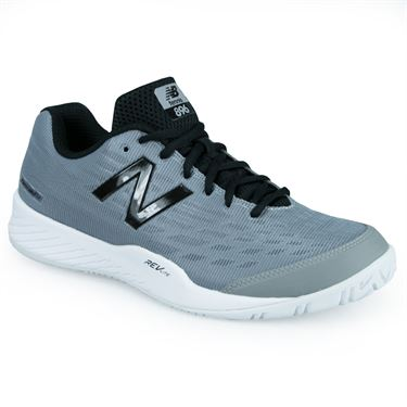 New Balance MCH896 (D) Mens Tennis Shoe - Grey/Black
