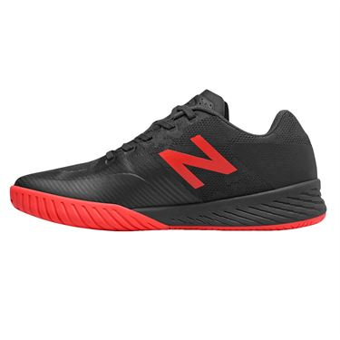 New Balance MC 896 (D) Mens Tennis Shoe - Black/Energy Red