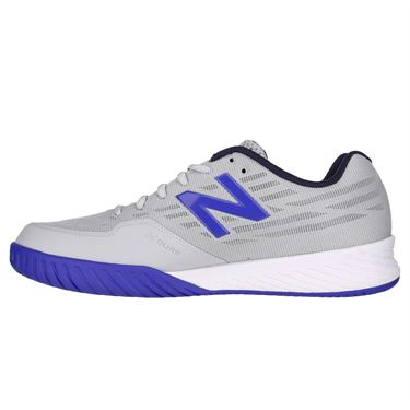 New Balance MC 896 (2E) Mens Tennis Shoe - Light Aluminum/UV Blue