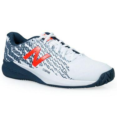 New Balance MCH996 Mens (2E) Tennis Shoe - White/Petrol/Flame