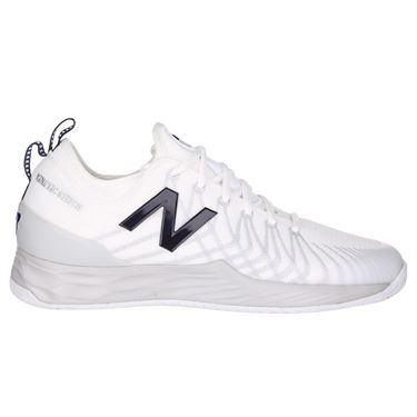 New Balance Fresh Foam MC LAV (D) Mens Tennis Shoe - White/Navy