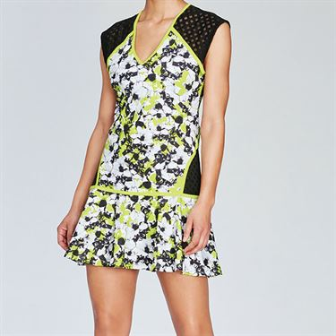 Eleven Morning Glory Lattice Dress - Morning Glory Print