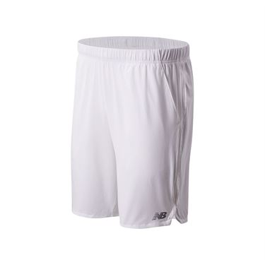 New Balance Rally Short 9 inch Short Mens White MS01412 WT