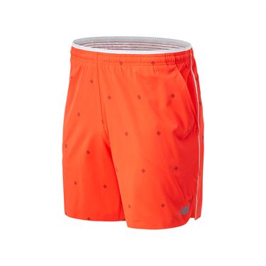 New Balance Printed Tournament Short Mens Neo Flame MS03407 NEF