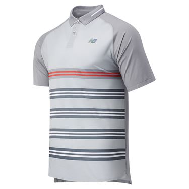 New Balance Printed Tournament Polo Shirt Mens Lead MT03404 LED