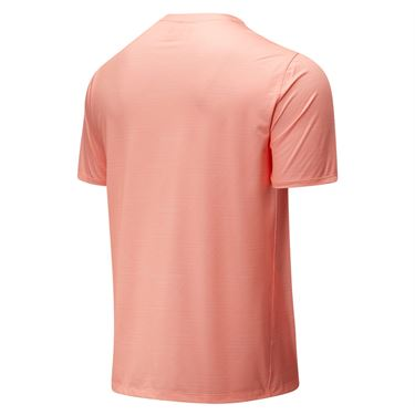 New Balance Rally Crew Shirt Mens Ginger Pink MT83410 GPK