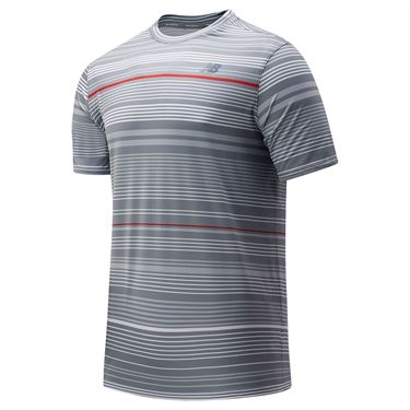 New Balance Rally Crew Shirt Mens Steel MT83410 SEL