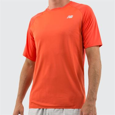 New Balance Tournament Movement Shirt - Coral Glow