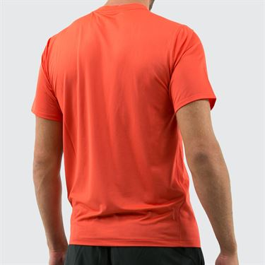 New Balance Rally Solid Crew Shirt - Coral Glow