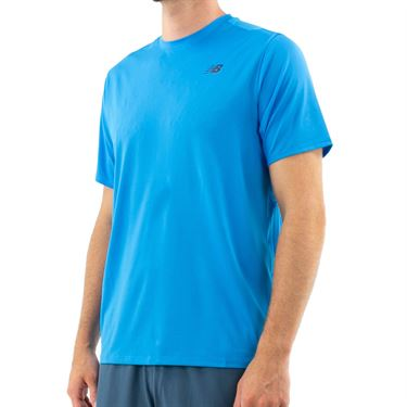 New Balance Rally Solid Crew Shirt Mens Vision Blue MT91411 VSB