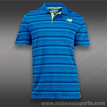 New Balance Tournament Stripe Polo-Blue