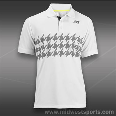 New Balance Challenger Polo -White