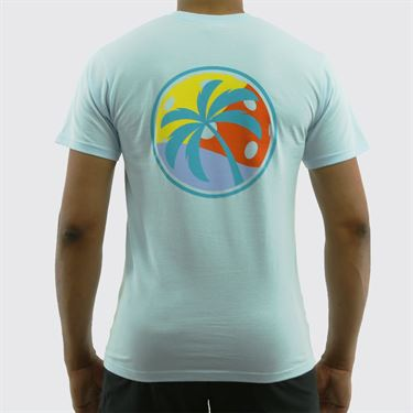 Pickleball Paradise Palm Tree Tee - Chambray