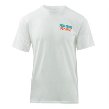 Pickleball Paradise Palm Tree Tee - White