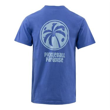 Pickleball Paradise Palm Tree Tee - Flo Blue