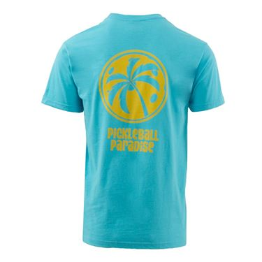 Pickleball Paradise Palm Tree Tee - Lagoon