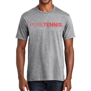 Midwest Sports Pure Tennis Tee Heather Grey MWPURET HGY