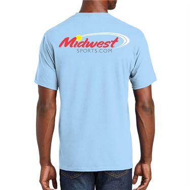 Midwest Sports Pure Tennis Tee Light Blue MWPURET LBL