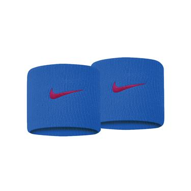 Nike Swoosh Wristbands - Pacific Blue/University Red