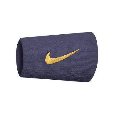 Nike Tennis Premier Doublewide Wristbands - Gridiron/Canyon Gold