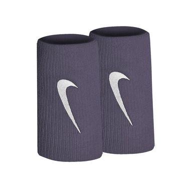Nike Tennis Premier Doublewide Wristbands - Gridiron/White