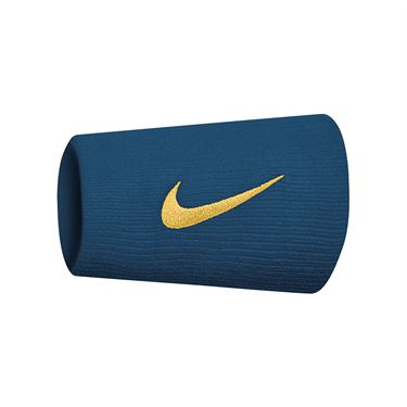 Nike Tennis Premier Doublewide Wristbands - Nightshade/Canyon Gold