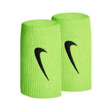 Nike Tennis Premier Doublewide Wristbands - Ghost Green/Obsidian