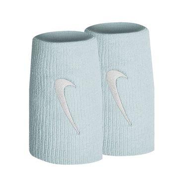 Nike Tennis Premier Doublewide Wristbands - Topaz Mist/White