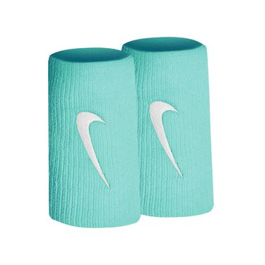 Nike Tennis Premier Doublewide Wristbands - Light Aqua/White