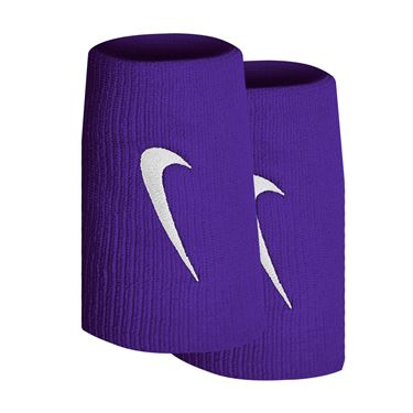 Nike Tennis Premier Doublewide Wristbands - Court Purple/White