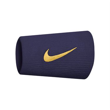 Nike Tennis Premier Doublewide Wristbands - Burgundy Ash/Canyon Gold