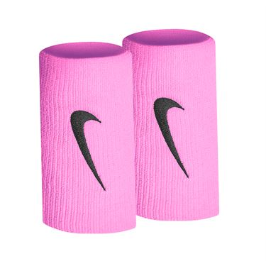 Nike Tennis Premier Doublewide Wristbands -  China Rose/Black