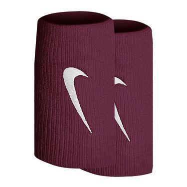 Nike Tennis Premier Doublewide Wristbands - Dark Beetroot/White